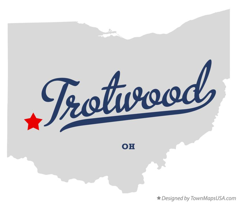 Map of Trotwood Ohio OH