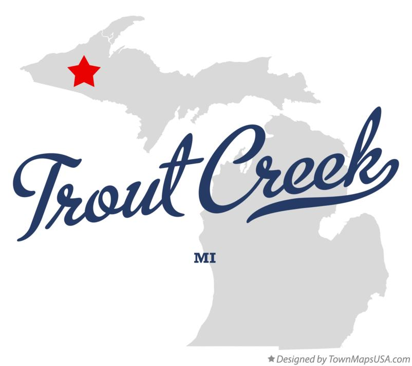 Map of Trout Creek Michigan MI