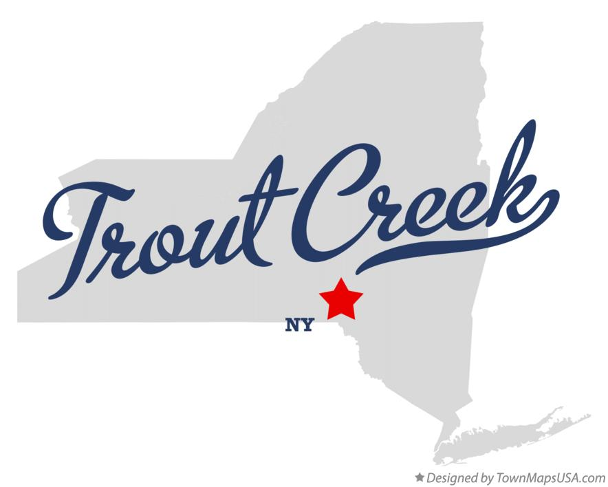 Map of Trout Creek New York NY