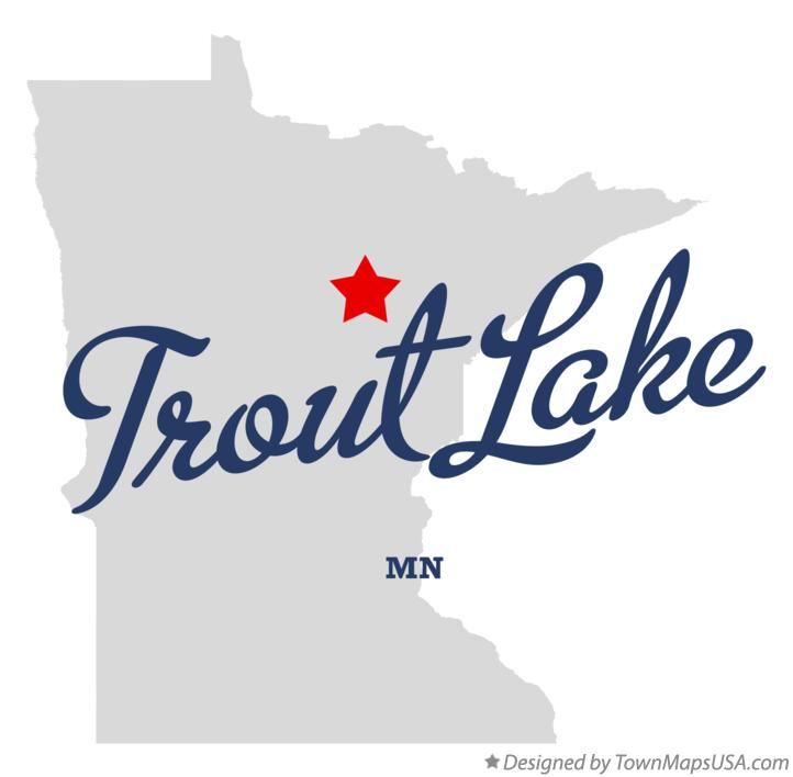 Map of Trout Lake Minnesota MN