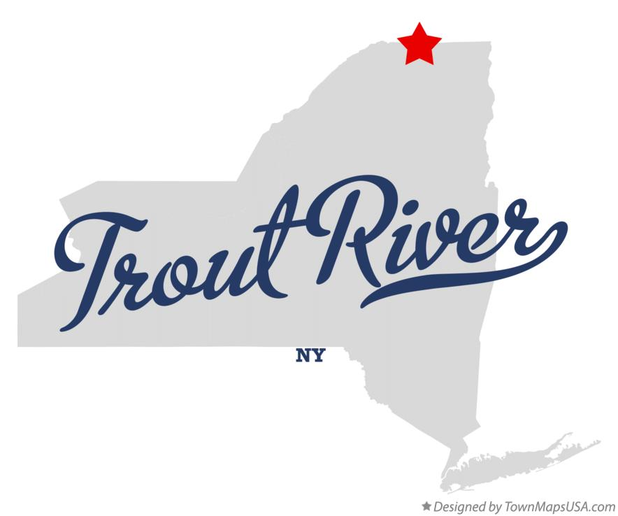 Map of Trout River New York NY