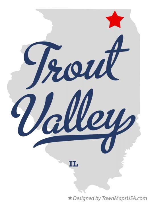 Map of Trout Valley Illinois IL