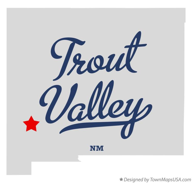Map of Trout Valley New Mexico NM