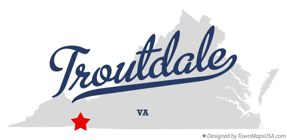 Map of Troutdale Virginia VA