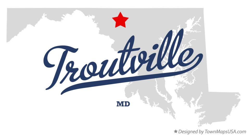 Map of Troutville Maryland MD