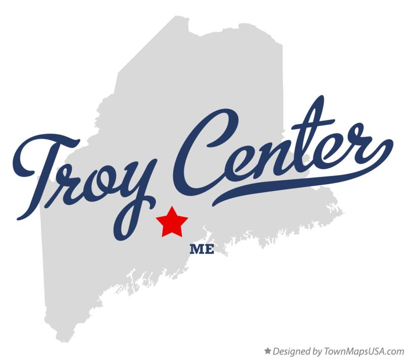 Map of Troy Center Maine ME
