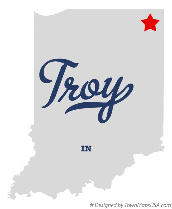Map of Troy Indiana IN