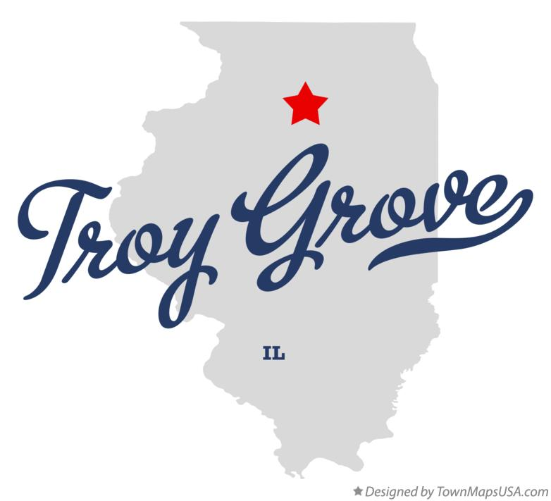 Map of Troy Grove Illinois IL