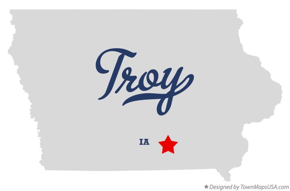 Map of Troy Iowa IA