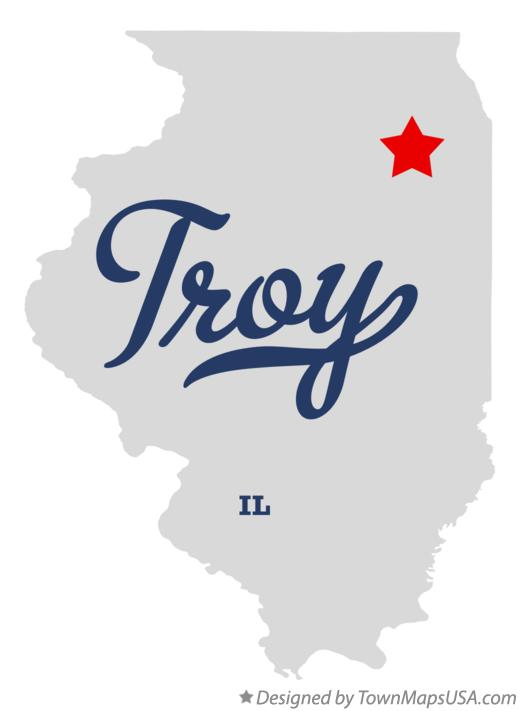 Map of Troy Illinois IL