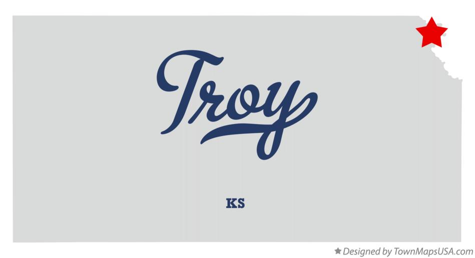 Map of Troy Kansas KS