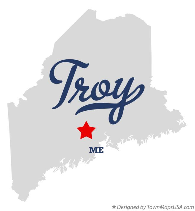 Map of Troy Maine ME
