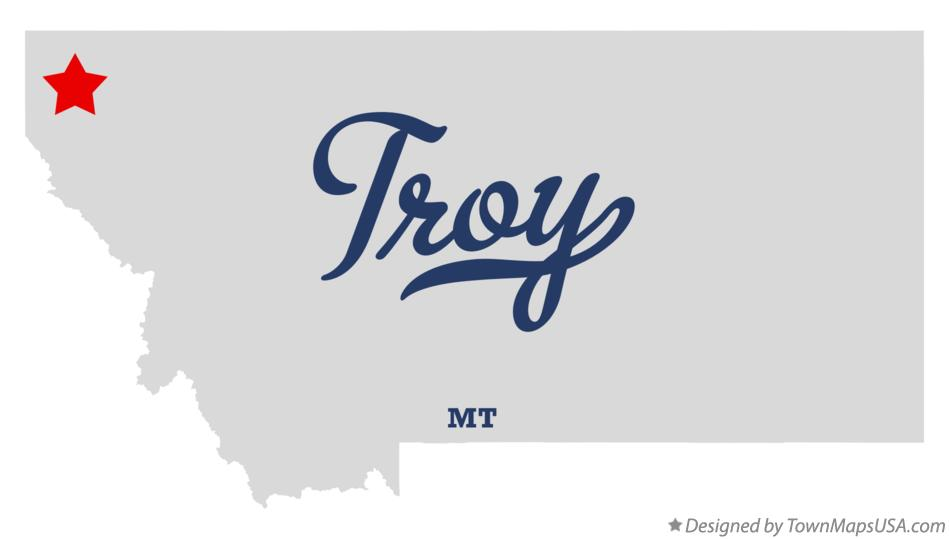 Map of Troy Montana MT