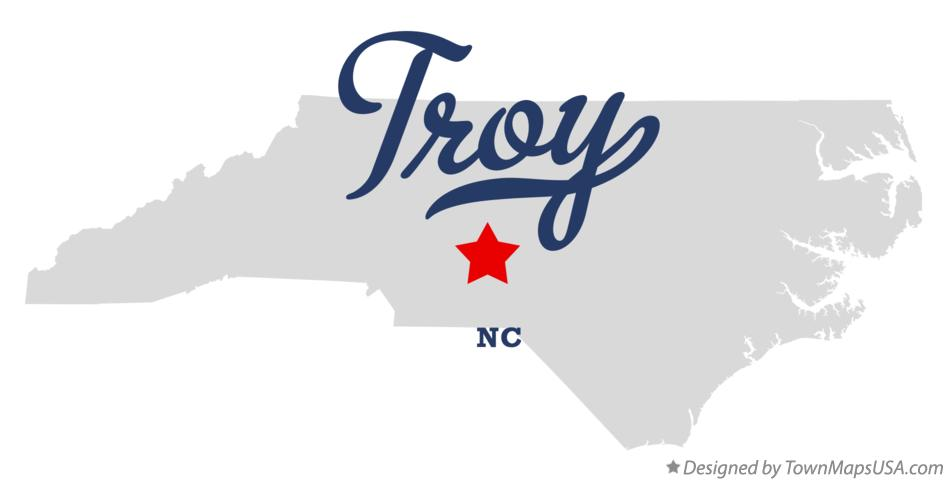 Map of Troy North Carolina NC
