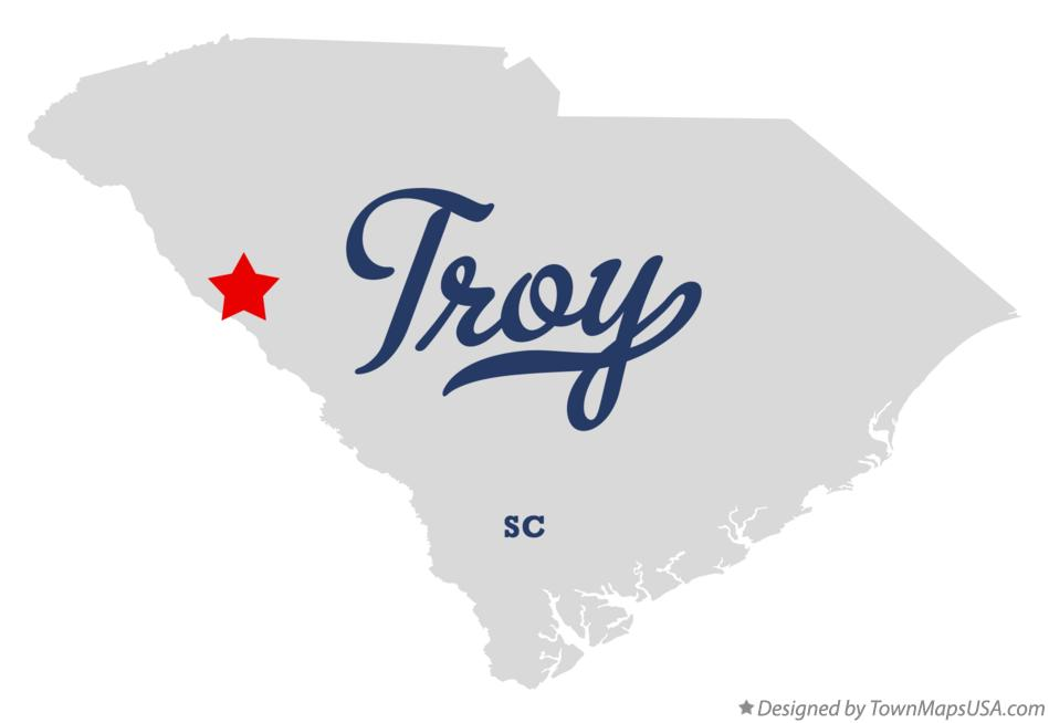 Map of Troy South Carolina SC