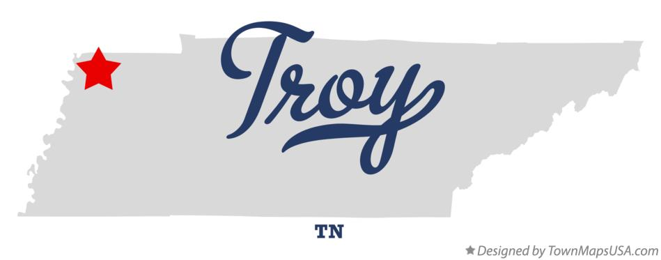 Map of Troy Tennessee TN