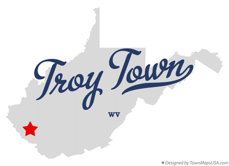 Map of Troy Town West Virginia WV