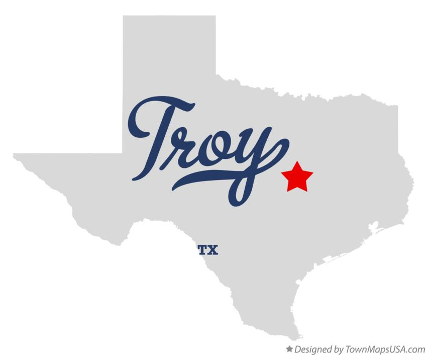 Map of Troy Texas TX
