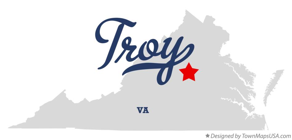 Map of Troy Virginia VA