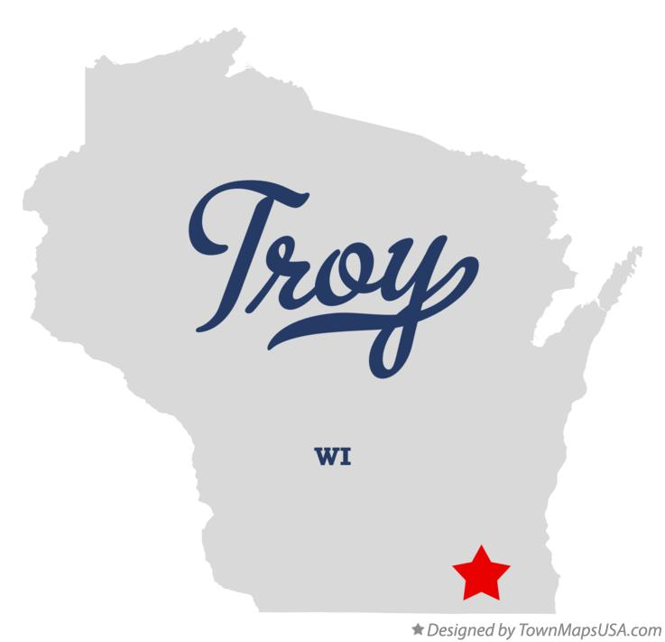 Map of Troy Wisconsin WI