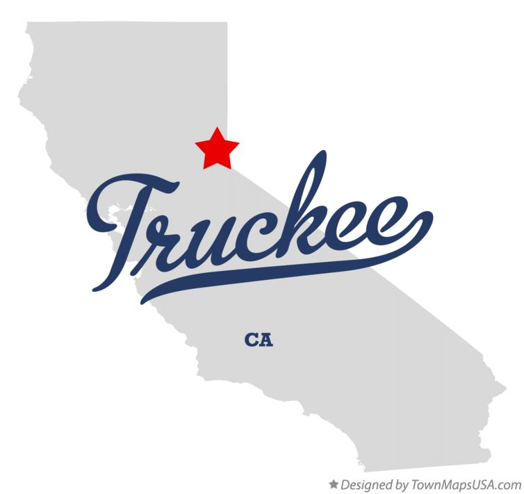 Map of Truckee California CA