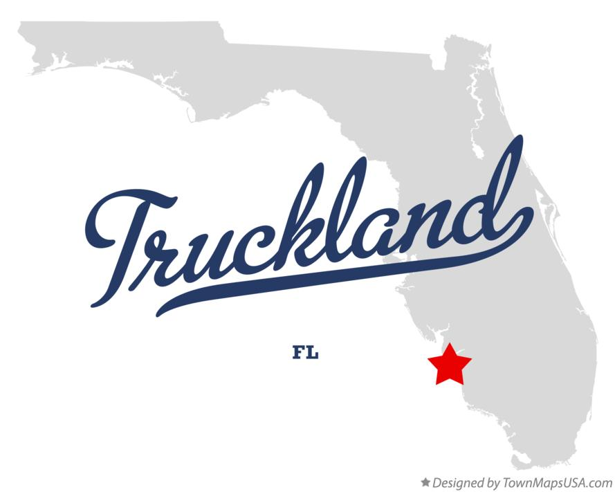 Map of Truckland Florida FL