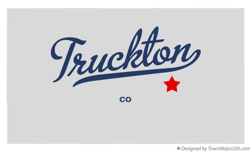 Map of Truckton Colorado CO