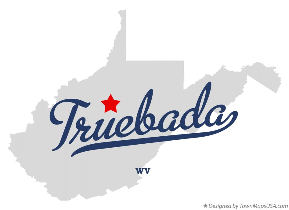 Map of Truebada West Virginia WV