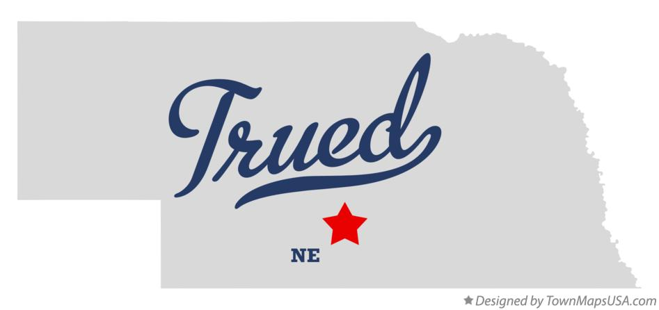Map of Trued Nebraska NE