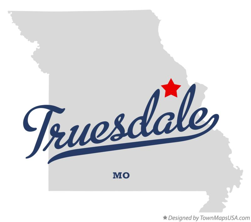Map of Truesdale Missouri MO