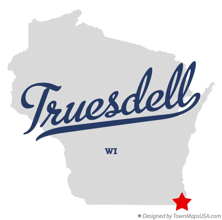 Map of Truesdell Wisconsin WI