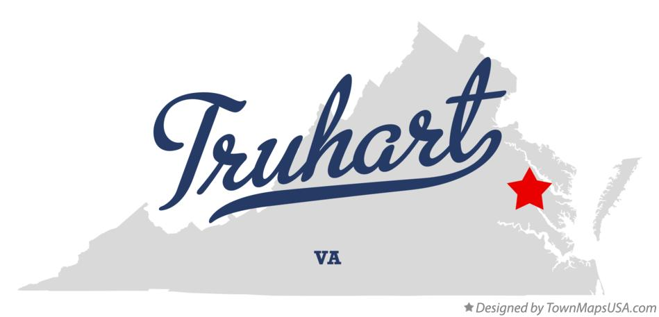 Map of Truhart Virginia VA