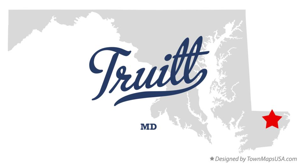 Map of Truitt Maryland MD