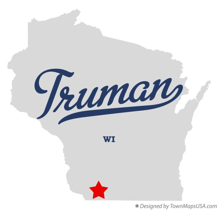 Map of Truman Wisconsin WI