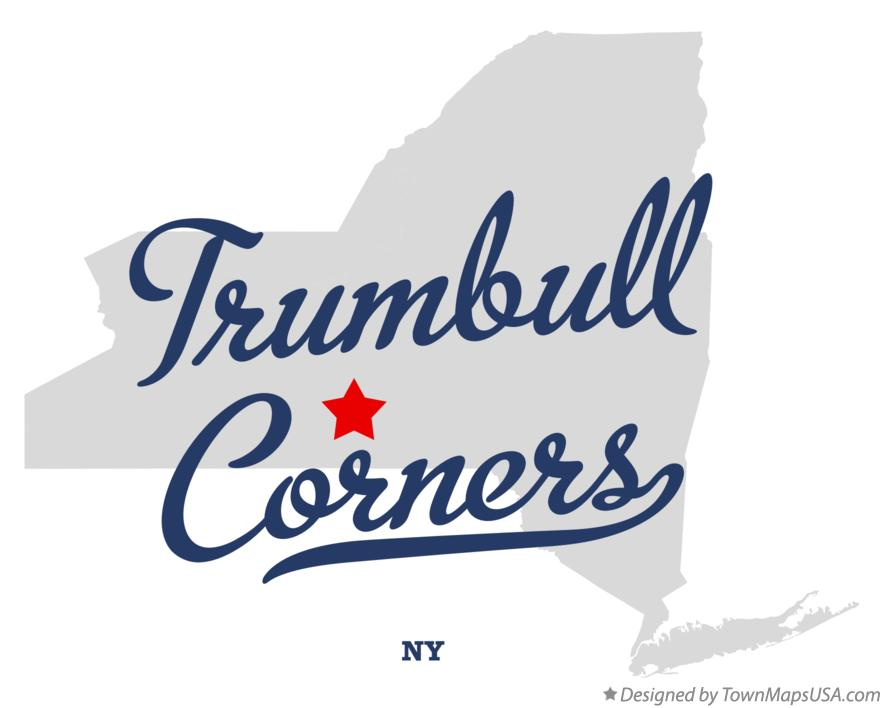 Map of Trumbull Corners New York NY