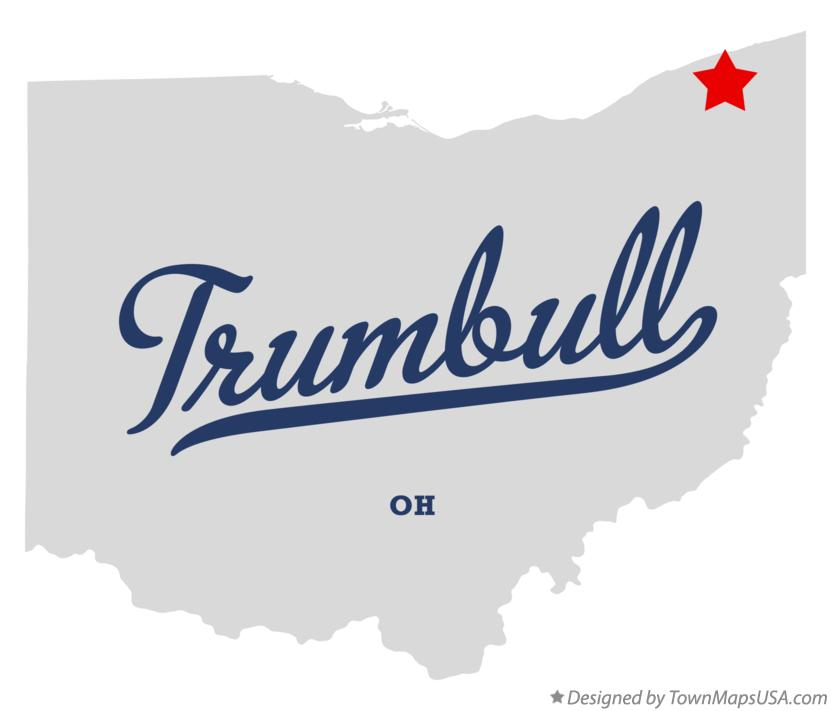Map of Trumbull Ohio OH