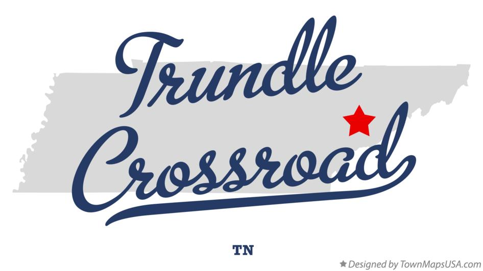 Map of Trundle Crossroad Tennessee TN