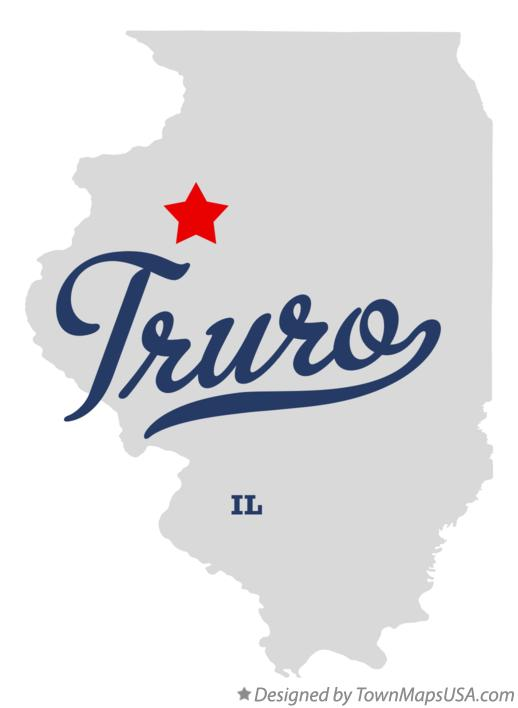 Map of Truro Illinois IL