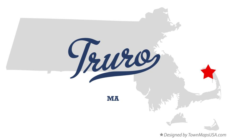 Map of Truro Massachusetts MA