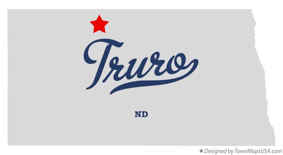 Map of Truro North Dakota ND