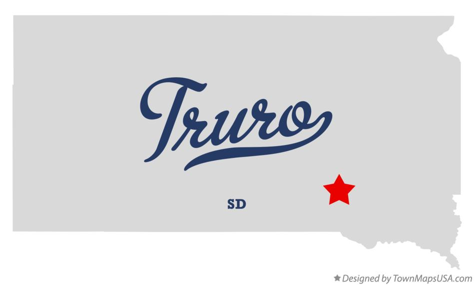 Map of Truro South Dakota SD