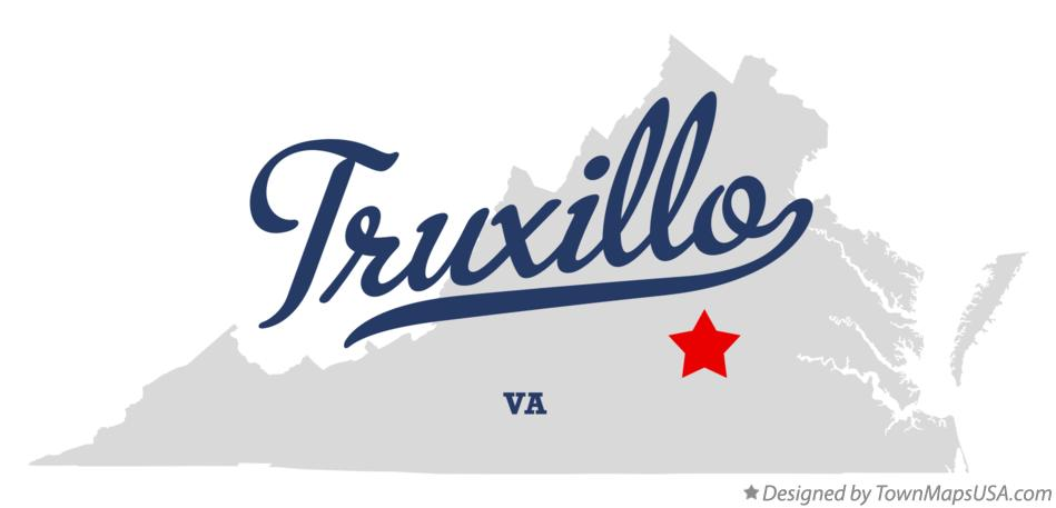 Map of Truxillo Virginia VA