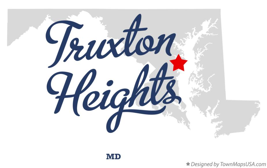 Map of Truxton Heights Maryland MD