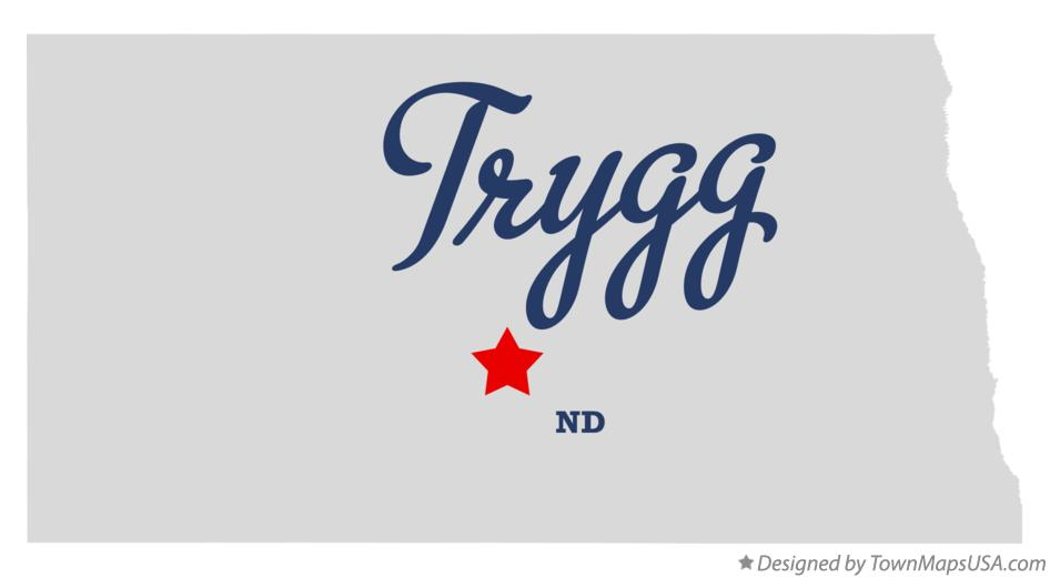 Map of Trygg North Dakota ND