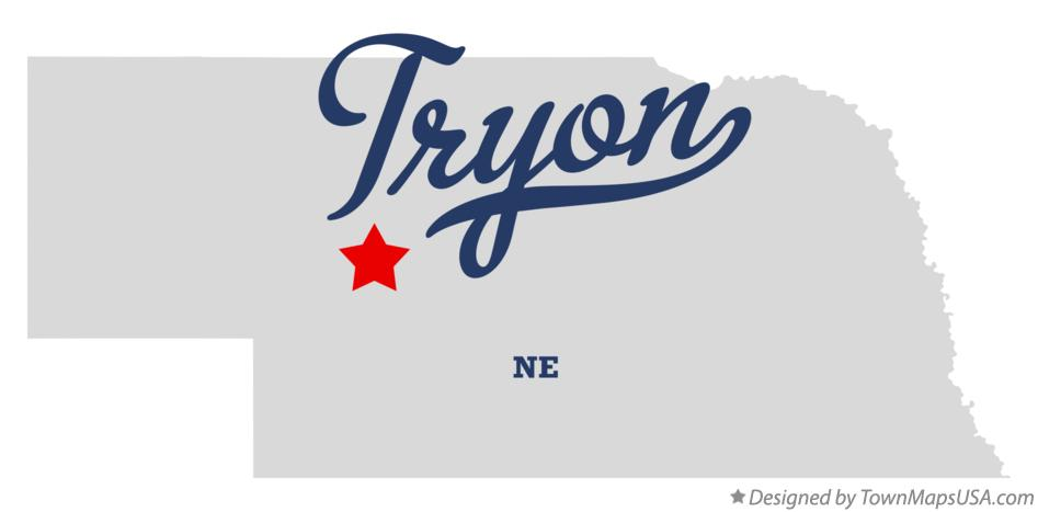 Map of Tryon Nebraska NE