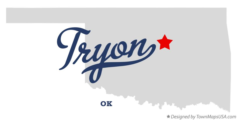 Map of Tryon Oklahoma OK