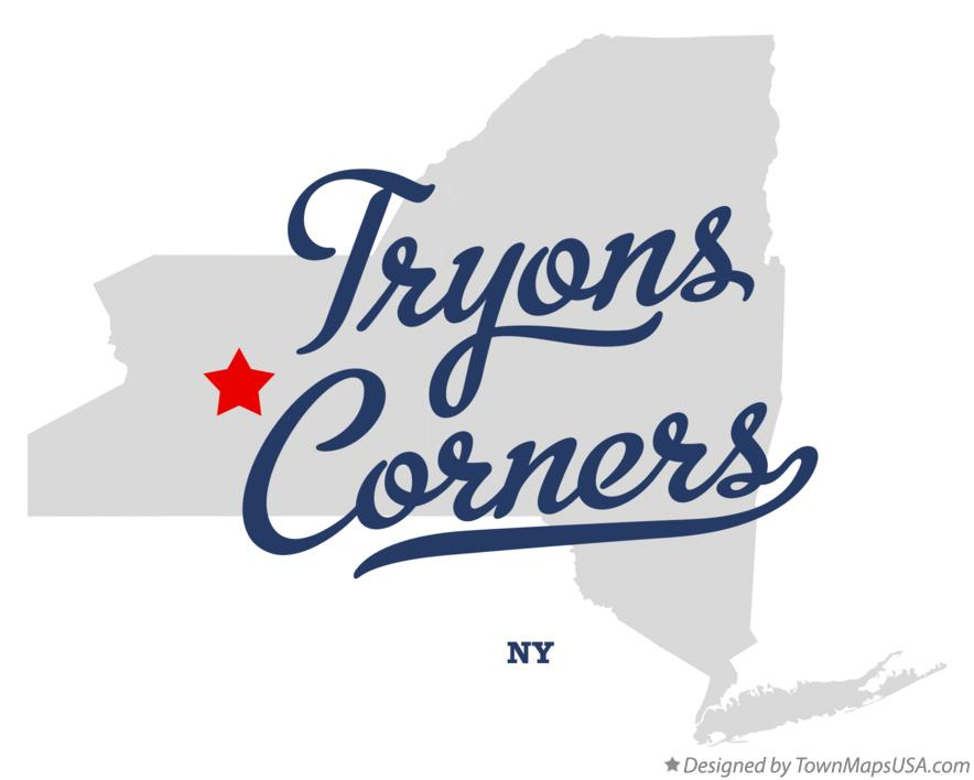 Map of Tryons Corners New York NY