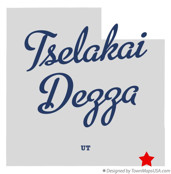 Map of Tselakai Dezza Utah UT
