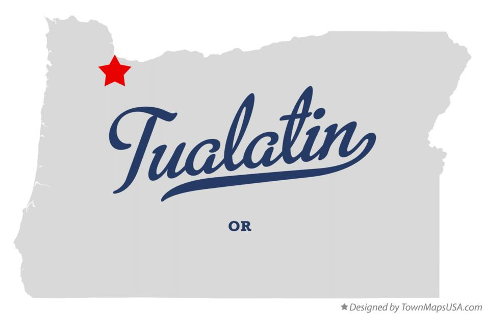 Map of Tualatin Oregon OR