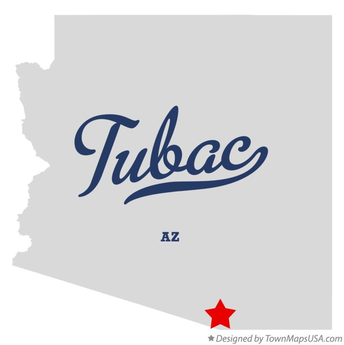 Map of Tubac Arizona AZ